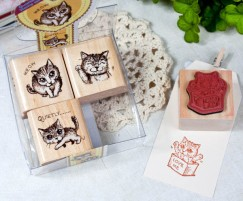 Quartet Stamp Set/Cute Cat
