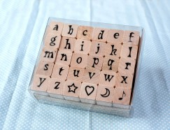 Alphabet stamp set/Heart/Star/Moon/Musical note
