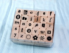 Alphabet stamp set/Flower/Button