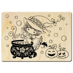 Halloween cute sorceress stamp/Pumpkin Party