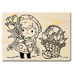 Happy harvest in the fall stamp/Tulip girl