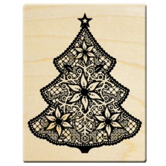 2014 Christmas stamp/Lace christmas tree