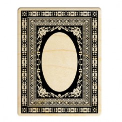 Classic art frame stamp/Lace frame