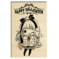 Halloween drag doll stamp/human skeleton ribbon girl