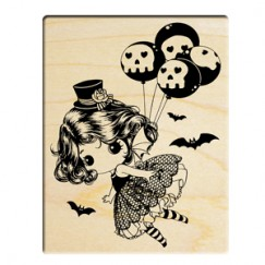 Halloween drag doll stamp/human skeleton balloon
