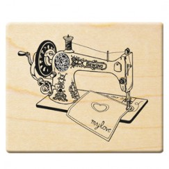 Happy Mother's Day stamp/Sewing machine