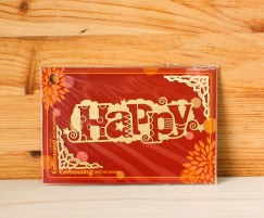 Embossing and templates/Happy