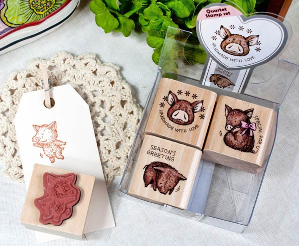 Quartet Stamp Set/Cute Pig