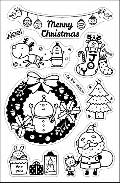 clear stamps-Merry christmas/Santa Claus