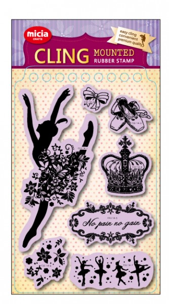 Cling stamp set-Ballet dancer silhouette