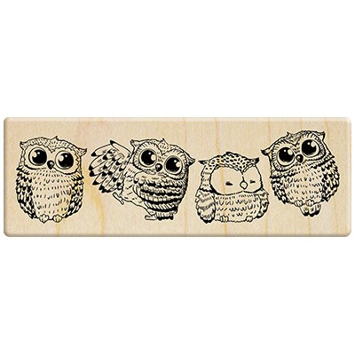 Maple stamp Set - Beautiful Light Manor  A Row of Owls