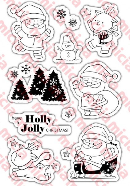 copy::Transparent Seal - Christmas Christmas Stamp Set