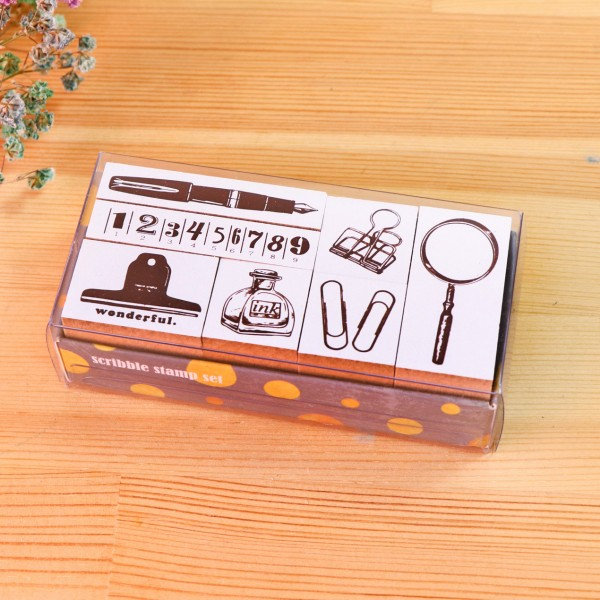 Scribble stamp set-Stationery workshop