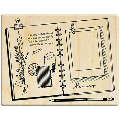 Notebook background stamp