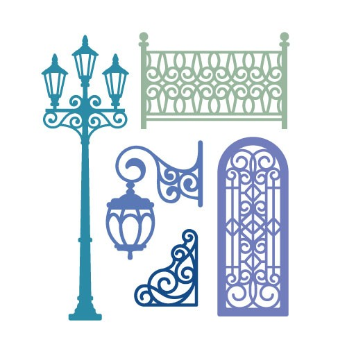 Die Cut Craft-European style street view