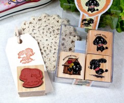 Quartet Stamp Set/Poodle