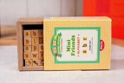 Minifriend stamp set/Alphabet Numbers Lower Case Letters