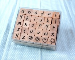 Alphabet stamp set/Butterfly/Flower/Heart/Star
