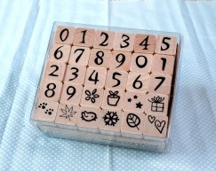 Number stamp set/Pattern
