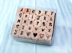 Alphabet stamp set/Heart