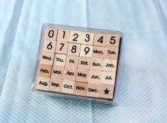 Calendar stamp set/Number