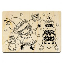 Halloween cute sorceress stamp/Birthday Party