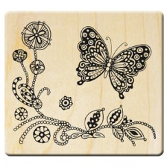 Love never ends stamp/Butterfly