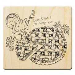 Tenderness manor Stamp/Squirrel/Pie