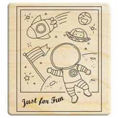 Happy family 6 Stamp/Astronaut
