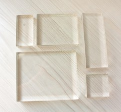 Acrylic Block 5 pcs set