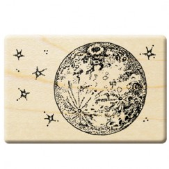 Fantasy forest stamp/Moon