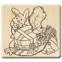 Dancing doll in the fall stamp/Hat/Rabbit