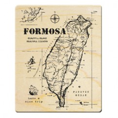 Formosa trip stamp/Taiwan map