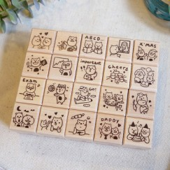 Dimanche-Cute Bear stamp set
