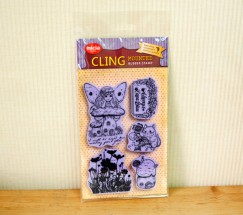Cling stamp set/Fairy/Mushrooms
