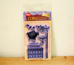Cling stamp set/Park/paper-cut silhouette
