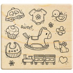 Sweet baby stamp/Car/Cake/Bib