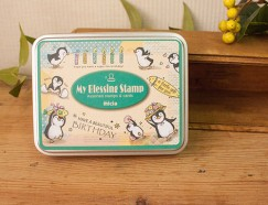 Iron box stamp-Penguins Birthday Party
