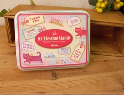 Iron box stamp-Cat's blessing note