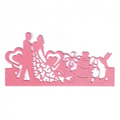 Die Cut Craft-Bride and groom