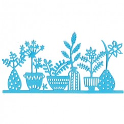 Die Cut Craft-Row of potted plants