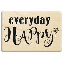 rubber stampl - happy every Day
