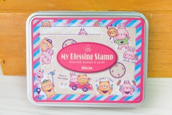 Iron box stamp-Yammy Time for bears and rabbits