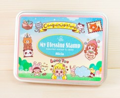 Iron box stamp-Forest party for girls and animals