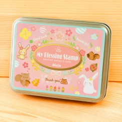 Iron box stamp-Daily life of squirrel bunny