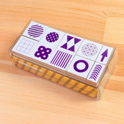 Scribble stamp set-Geometric square and circle