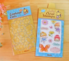clear stamps & Dies set - flower wizard + knife module