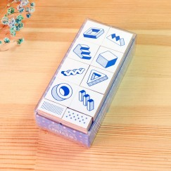 Scribble stamp set-Gravity free geometry