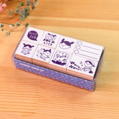 Scribble stamp set-Desperate girl
