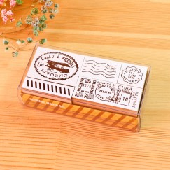 Scribble stamp set-World travel
